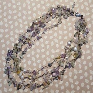 Jewelry - Multi Gemstone, Freshwater Pearl necklace